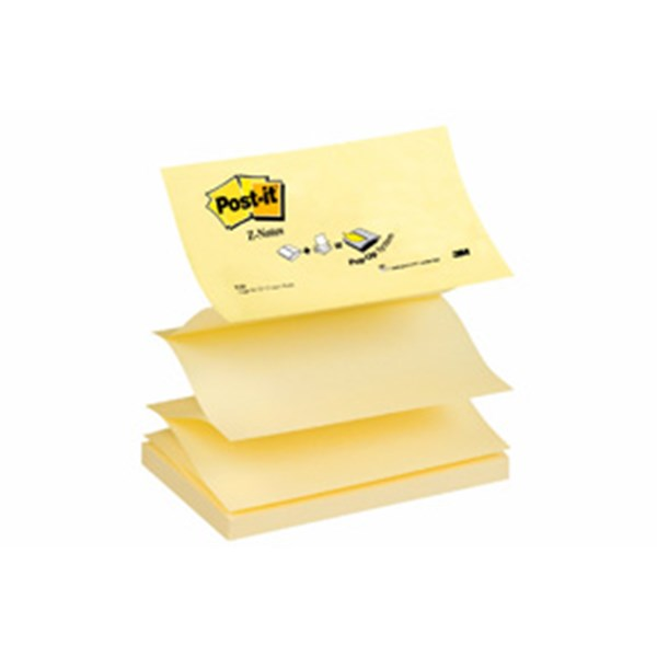 Post-it Z-Notes 76x127 gul