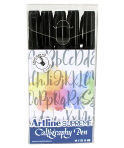 Artline Supreme Calligraphy Pen 5/set black