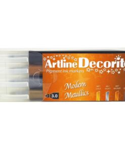 Artline Decorite Flat Modern metallic 4-sæt
