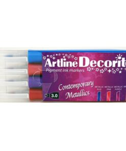 Artline Decorite Flat metallic 4-sæt