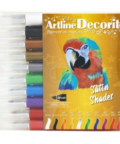 Artline Decorite brush metallic 10-sæt