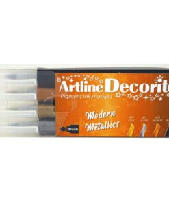 Artline Decorite brush Modern metallic 4-sæt