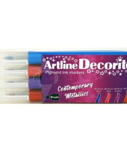 Artline Decorite brush metallic 4-sæt