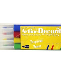 Artline Decorite brush Tropical 4-sæt