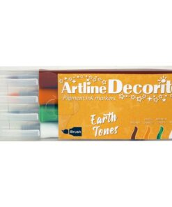 Artline Decorite brush Earth 4-sæt