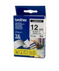 Brother TZe tape 12mmx8m black/white