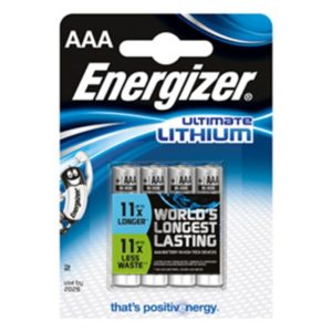 Energizer Ultimate Lithium AAA (4-pack)