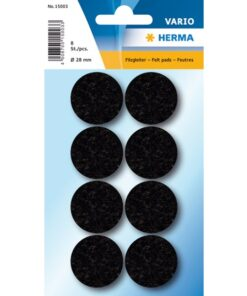 Herma Home filtfødder ø28 sort (8)