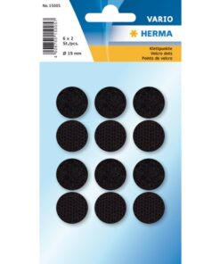 Herma Home hook & loop velcro puder ø19 sort (6)