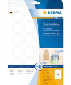 Herma etiket film extremely strong ø40 transp (600)