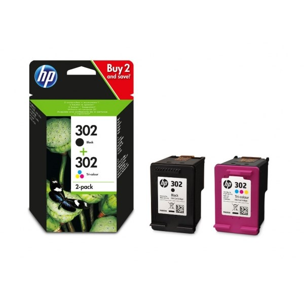 No302 ink cartridges combo 2-pack