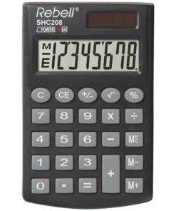 Rebell pocket calculator SHC208