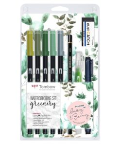 Marker Tombow ABT Dual Brush sæt Greenery (9)