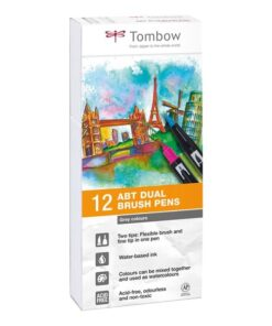Marker Tombow ABT Dual Brush 12P-3 grey colours (12)