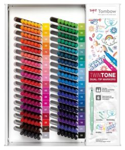 Marker Tombow TwinTone tomt display til 216 stk