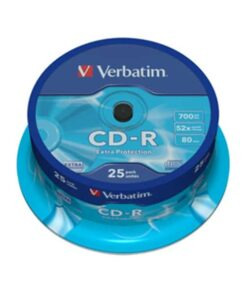CD-R 700MB/80min 52x spindle (25)