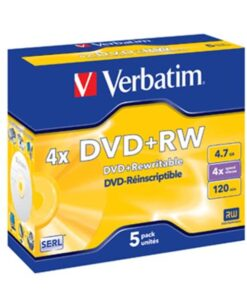 DVD+RW 4.7GB 4x Jewel Case (5)