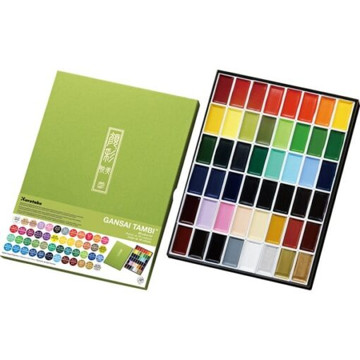 GANSAI TAMBI Aquarel 48 colour set