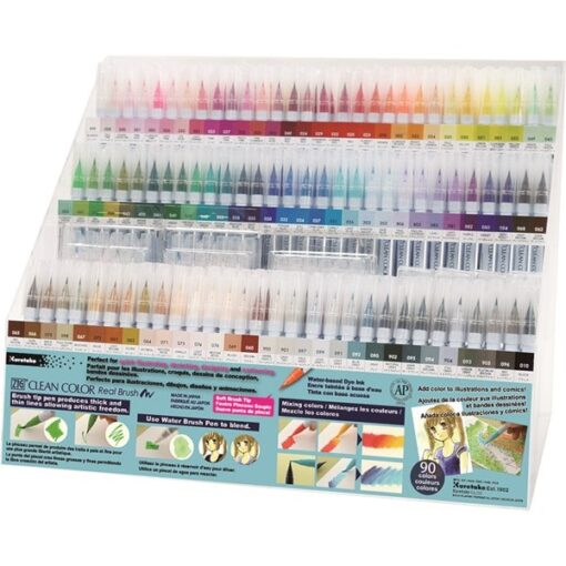 Zig Clean Color Pensel Pen Display m. 356 stk