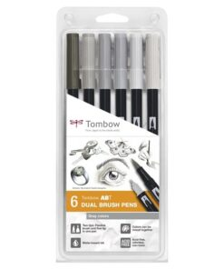 Marker Tombow ABT Dual Brush 6P-4 Grey colors (6)