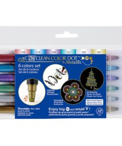 Zig Clean Color DOT 6 color set metallic