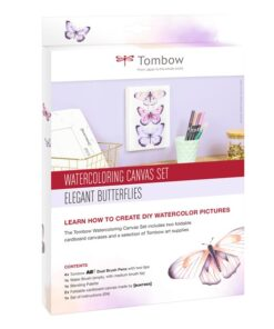 Tombow Watercoloring Canvas set Butterflies